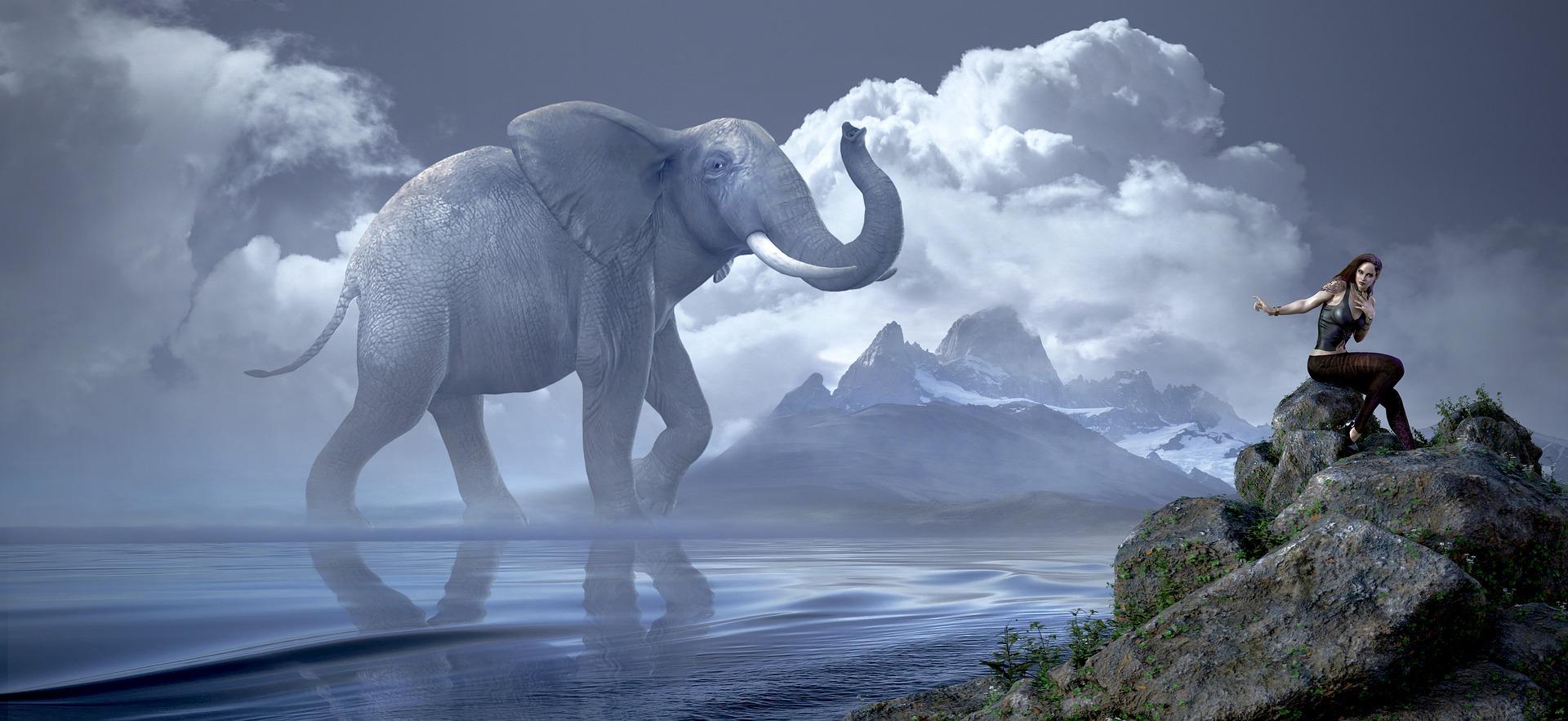 giant fantasy elephant