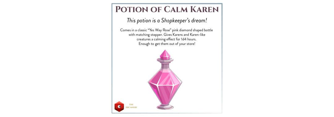 potion of calm karen